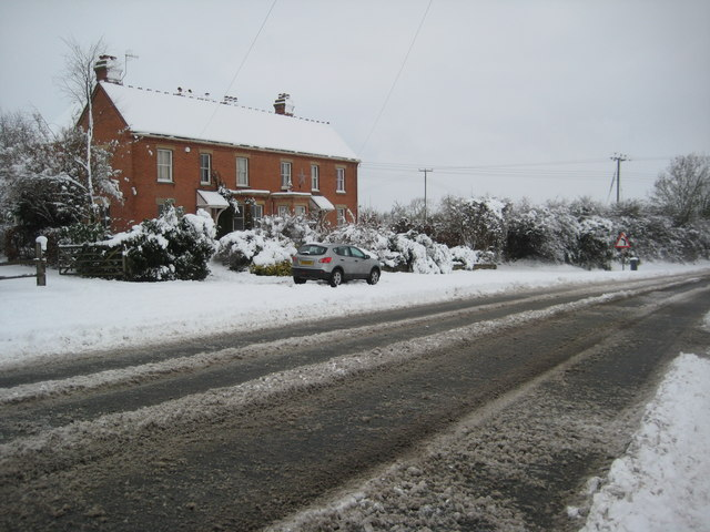 Houses beside the A4104