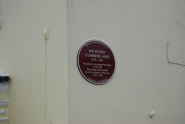 Plaque to Richard Cumberland, Mount Sion