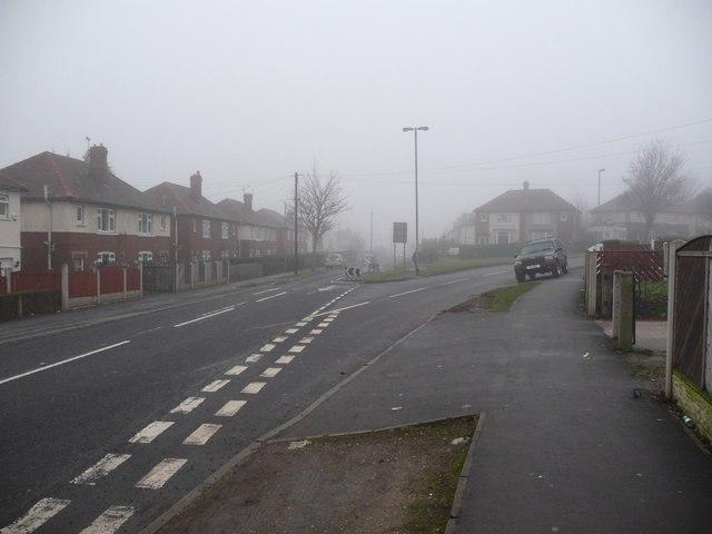 Junction of Queen Elizabeth Road and Irwin Crescent, Eastmoor