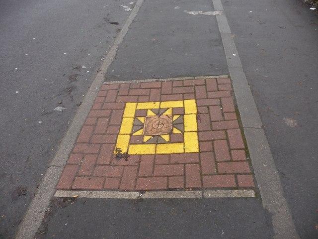 Art brightens the pavement, Irwin Crescent, Eastmoor