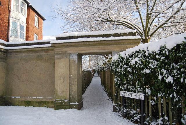 Entrance to Bird Cage Walk, The Grove