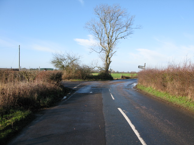 Junction of Calleywell Lane onto Goldwell Lane
