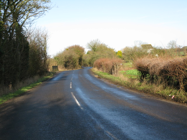 View along the Smeeth road