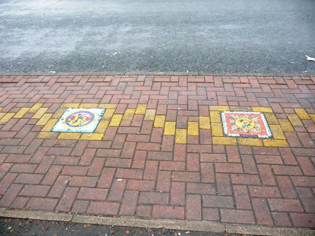 Art brightens the pavement in Linton Road