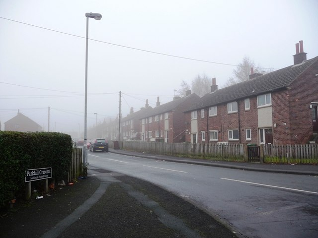 Western junction of Parkhill Crescent and Park Lodge Lane