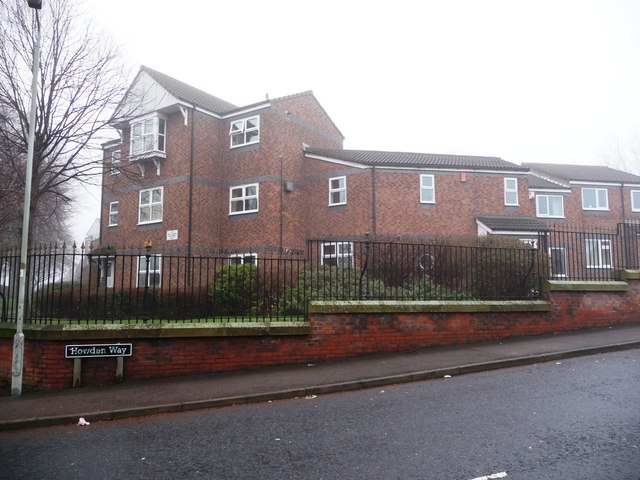 East side of Howden Way, near the junction with Park Lodge Lane
