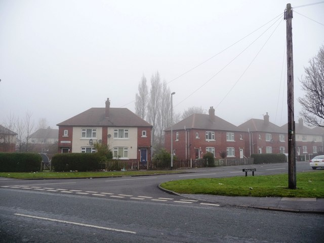 Junction of Parkgate Avenue and Park Lodge Lane, Eastmoor