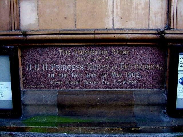 Town Hall Foundation Stone (1902), St. Owen's Street