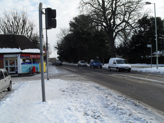 Treacherous conditions in Emsworth Road