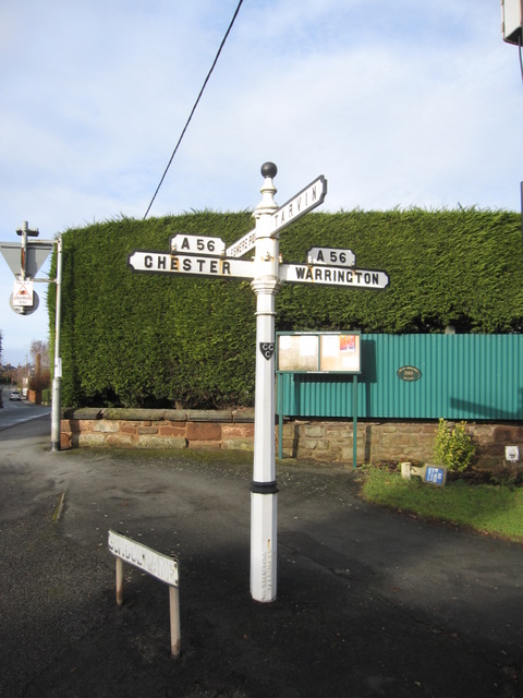 Old signpost in Mickle Trafford