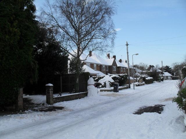 Snowman in Pembury Road