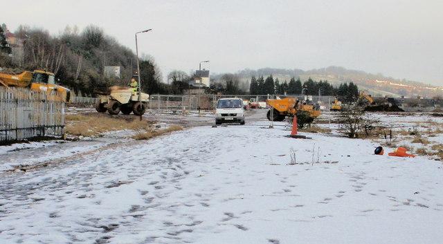 Work in progress on Crindau site of new Sainsbury superstore