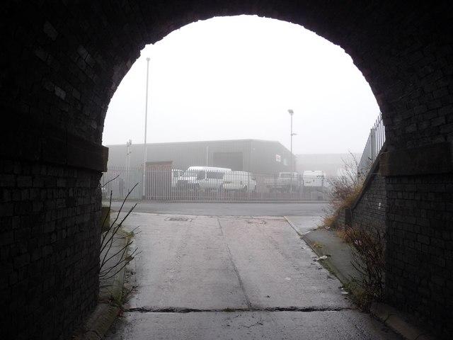 Calder Vale Road from the railway bridge