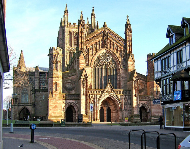 Hereford Cathedral (seen from King Street)
