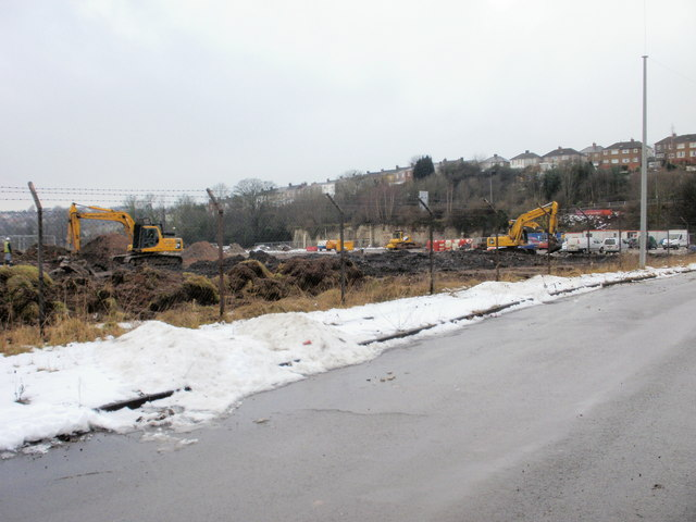 Work in progress on Crindau site of new Sainsbury superstore(2)