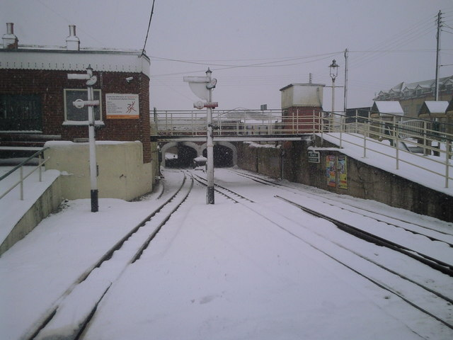 New Romney station in snow