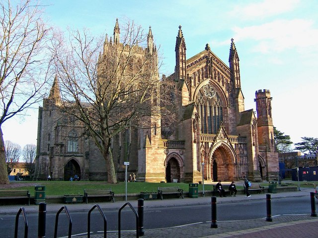 Hereford Cathedral (seen from Broad Street)