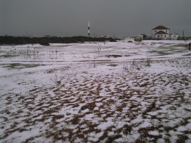 Dungeness station in the snow