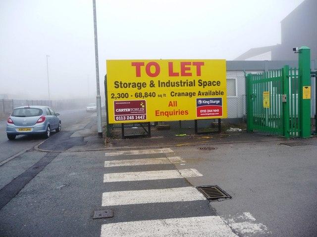 To Let sign, Calder Vale Road