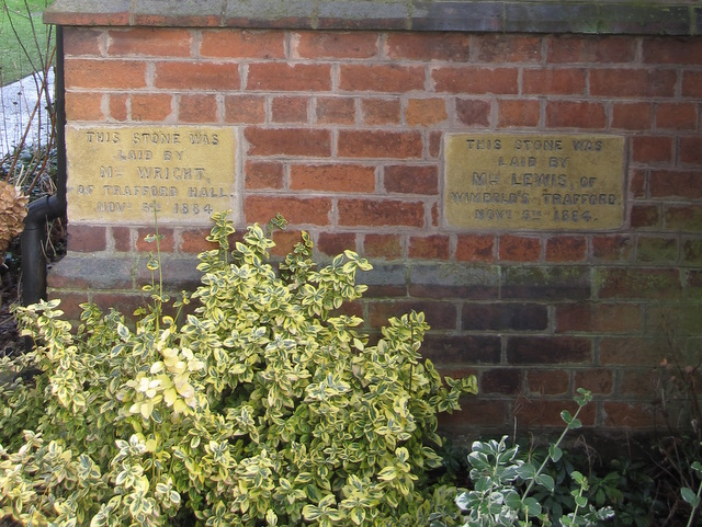 Two foundation stones in the Primitive Methodist Chapel