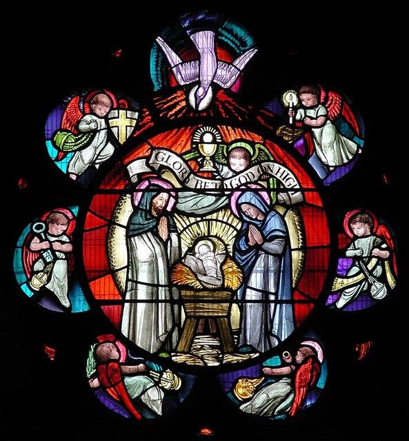 St Barnabas, The Fairway - West window detail