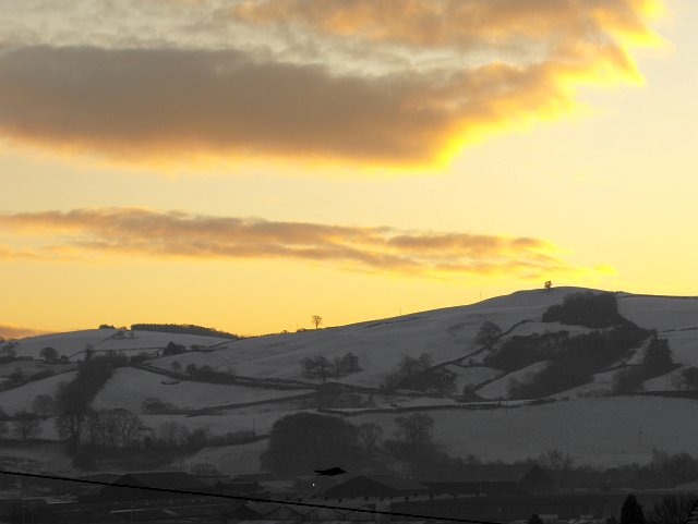 Christmas dawn over Cefn Vastre