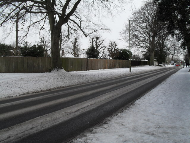 Mid section of a snowy Netherfield Close