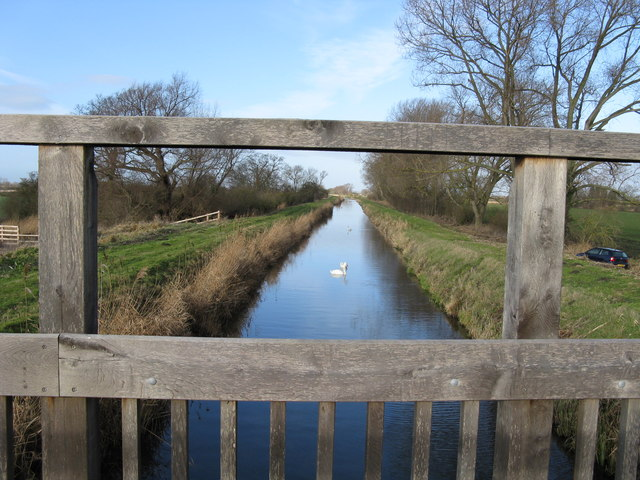 View from Swaffham Bulbeck Lode cycle bridge