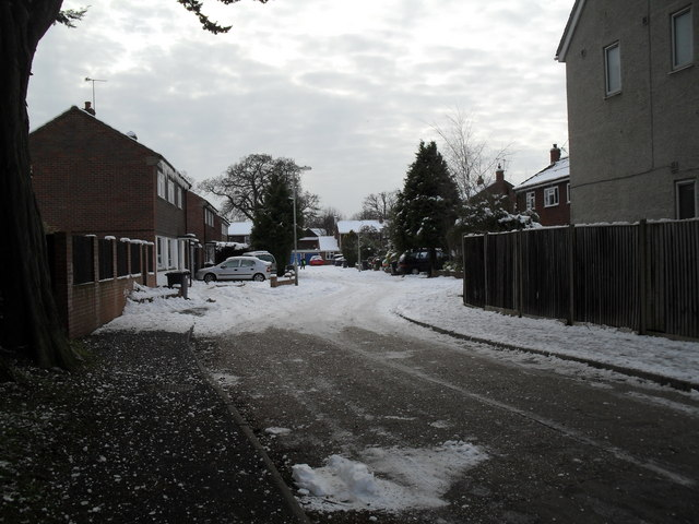 A snowy Netherfield Close