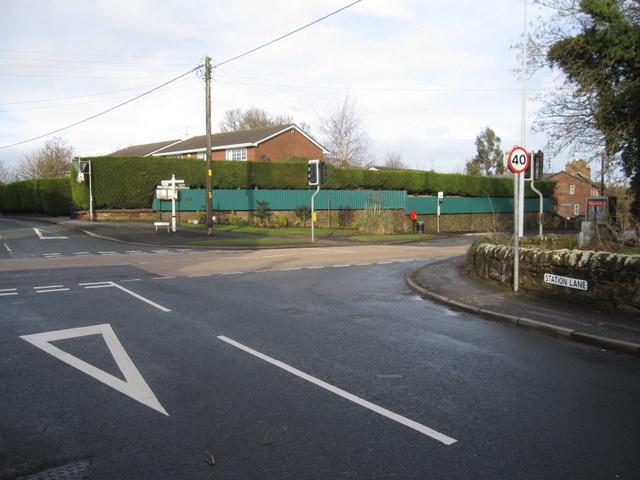 Crossroads in Mickle Trafford