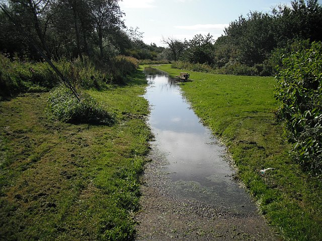 Flooded path, Milgarholm Park