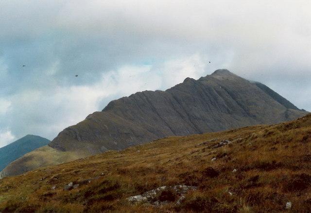 Bla Bheinn's SW ridge from the Am Màm