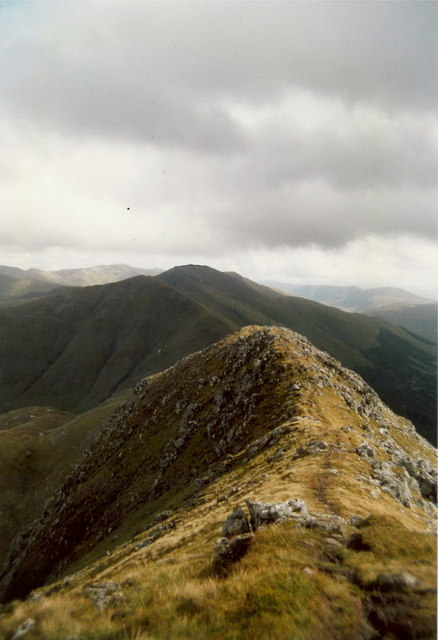 Saileag from the east ridge of Sgurr nan Spainteach