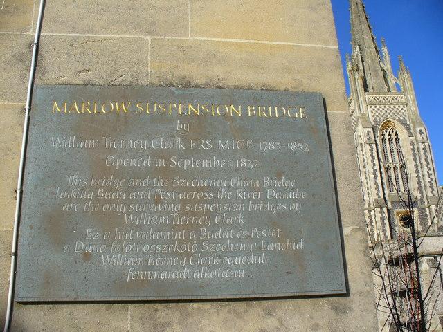 Marlow Suspension Bridge Plaque