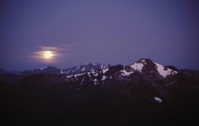 Moon-rise over the Mamores