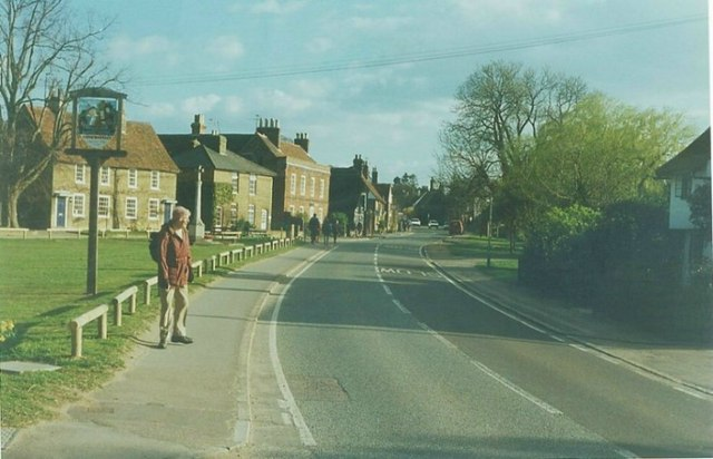 Village sign, Roydon in 1997