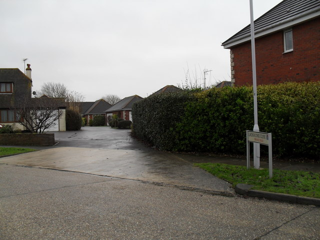 Looking from Cove Road into Ladbrooke Close