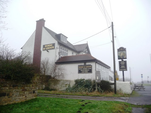 The Horse and Groom pub, on the A655