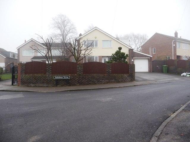 Ashdene Drive, at the junction with Ashdene Approach