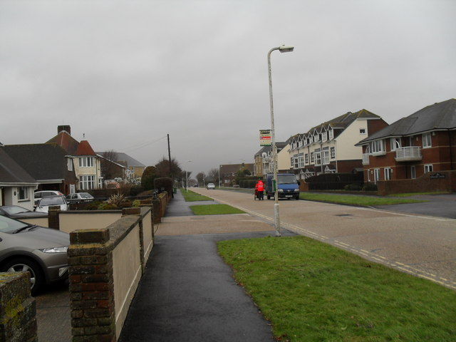 Retreating postie in  Road