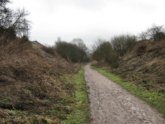 Looking North-East along the Biddulph Valley Way