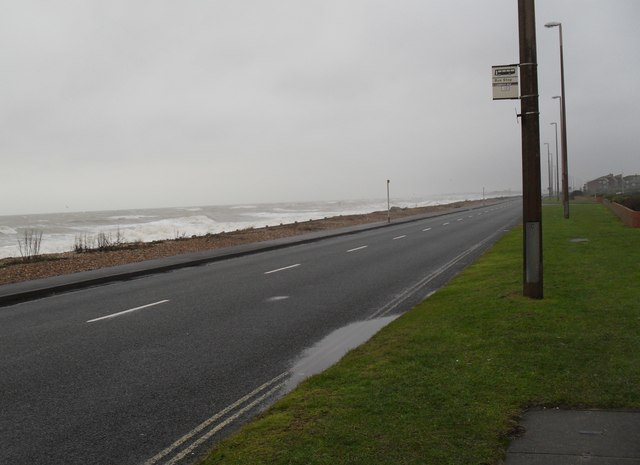 Bus stop in Sea Road
