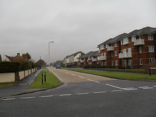Looking from Sea Road into Harsfold Road