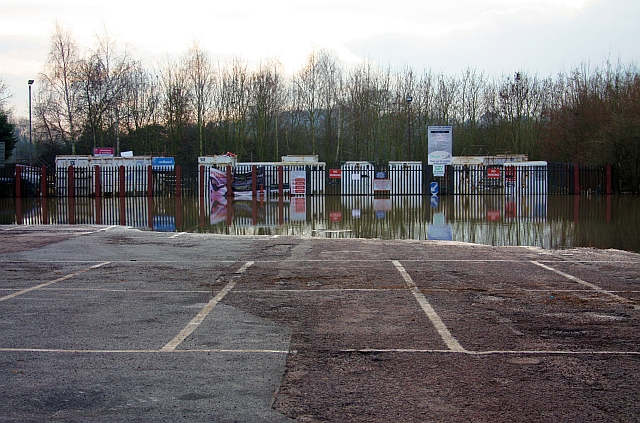 Flooded recycling centre