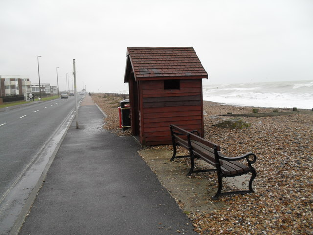 Empty seat on Rustington Beach