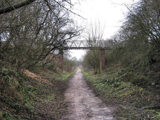 Footbridge over the Biddulph Valley Way