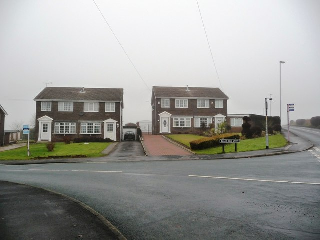 Houses at the top of Brand Hill Drive