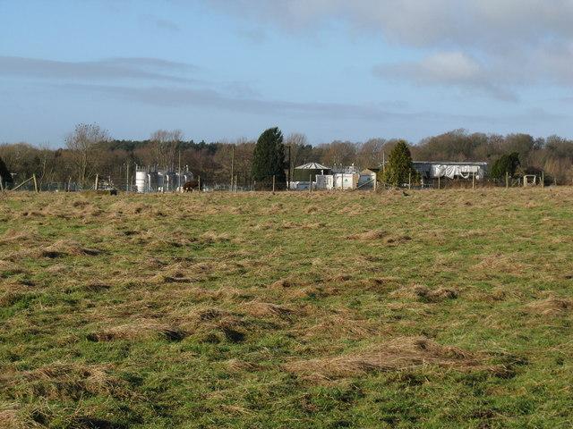 Sewage works north of Parham airfield