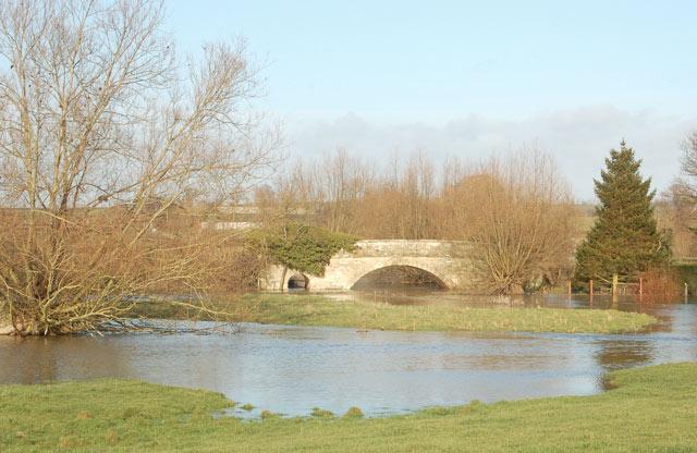 River Itchen in flood near Marton (3)