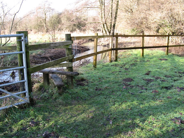 Stile near a bend in the River Stor